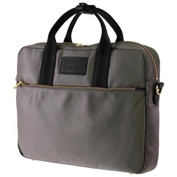 グレーのグラッセナイロンを使ったビジネスバッグ