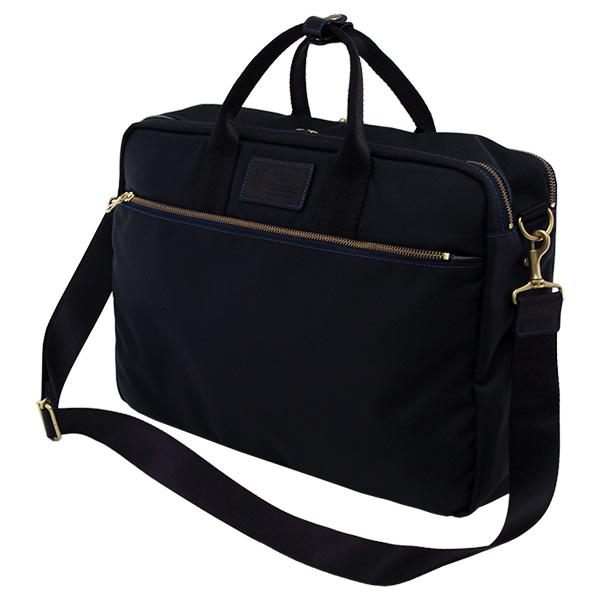 ネイビーのバリスティックナイロンを使ったビジネスバッグ