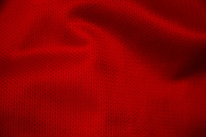 赤いナイロン生地